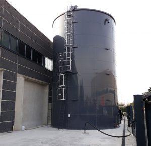 Serbatoi cilindrici capacità 403 MC